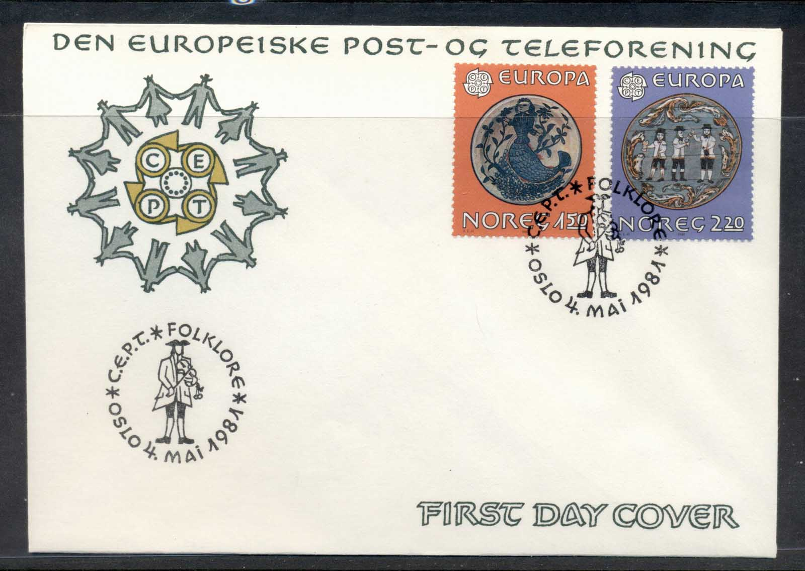 Norway 1981 Europa Folklore FDC