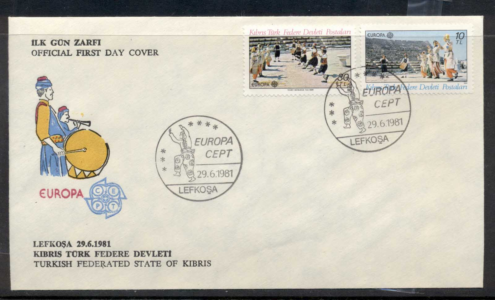Cyprus Turkish 1981 Europa Folklore FDC