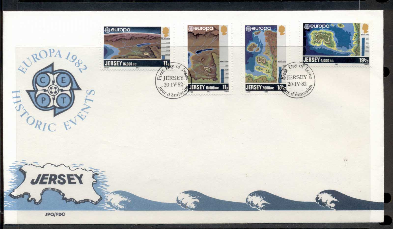 Jersey 1982 Europa History FDC