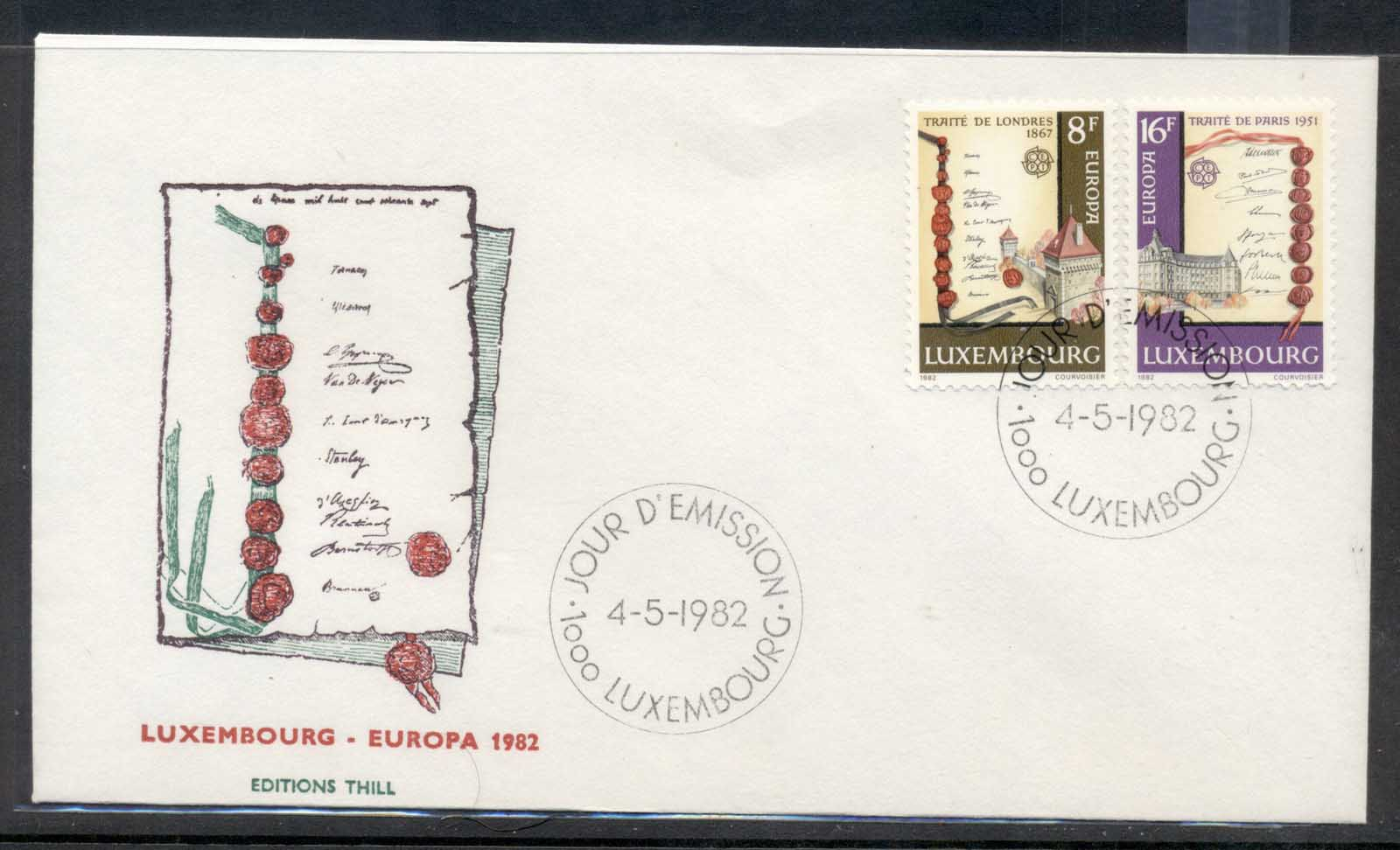 Luxembourg 1982 Europa History FDC
