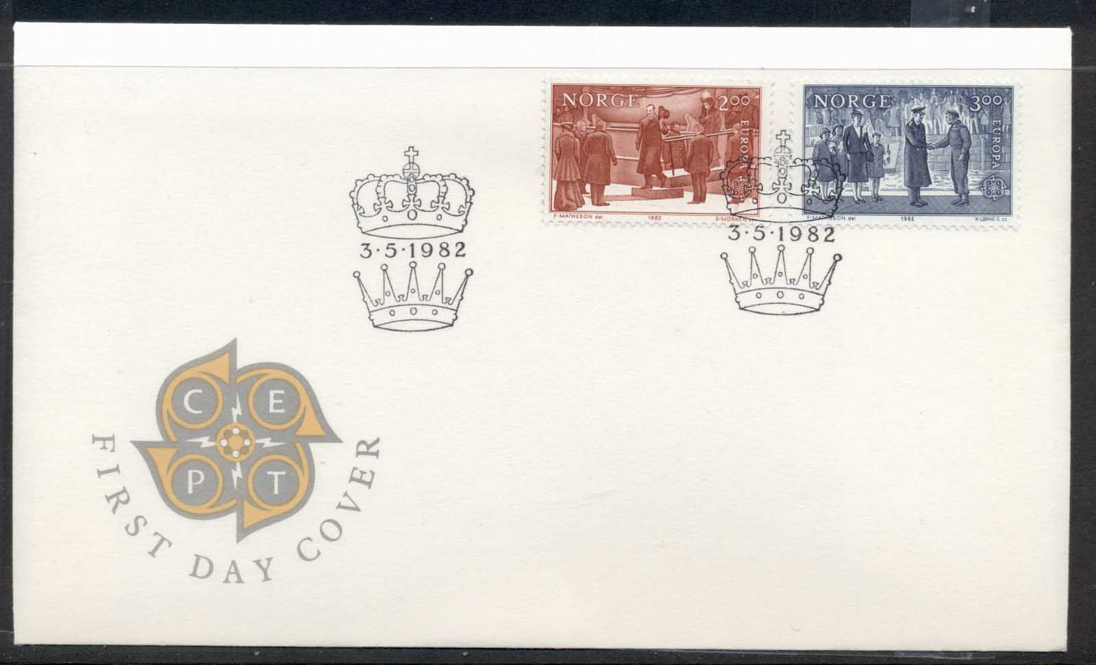 Norway 1982 Europa History FDC