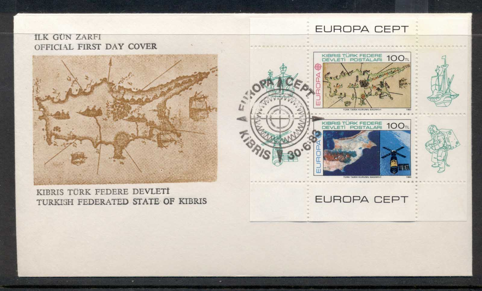 Cyprus Turkish 1983 Europa Human Genius MS FDC