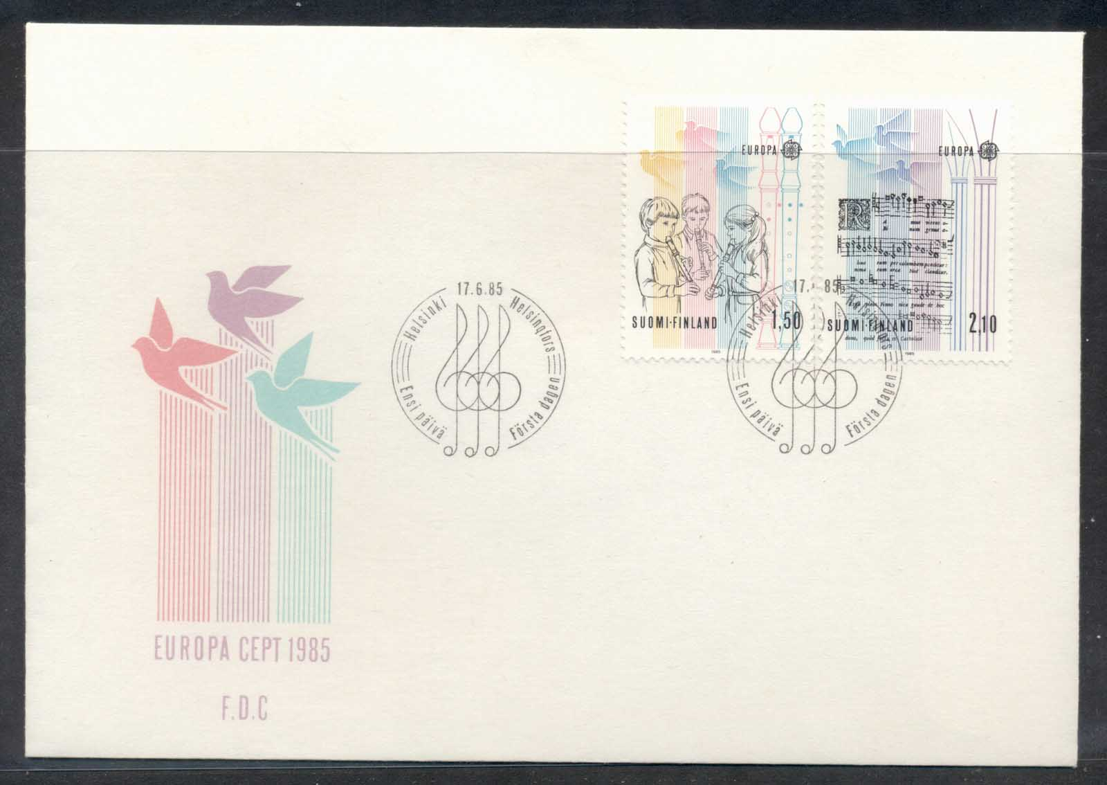 Finland 1985 Europa Music Year FDC