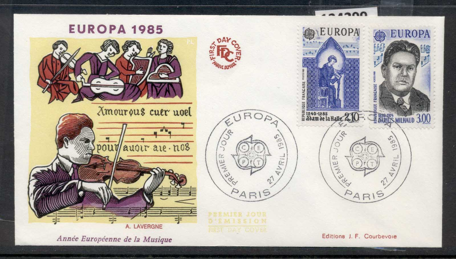France 1985 Europa Music Year FDC