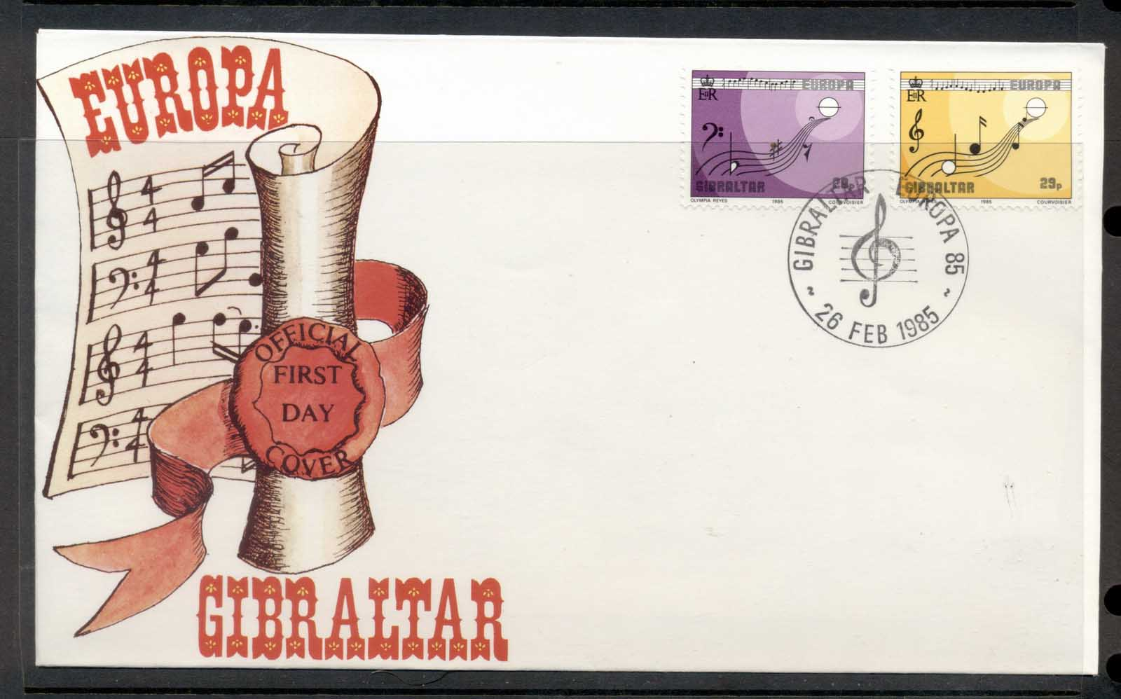 Gibraltar 1985 Europa Music Year FDC