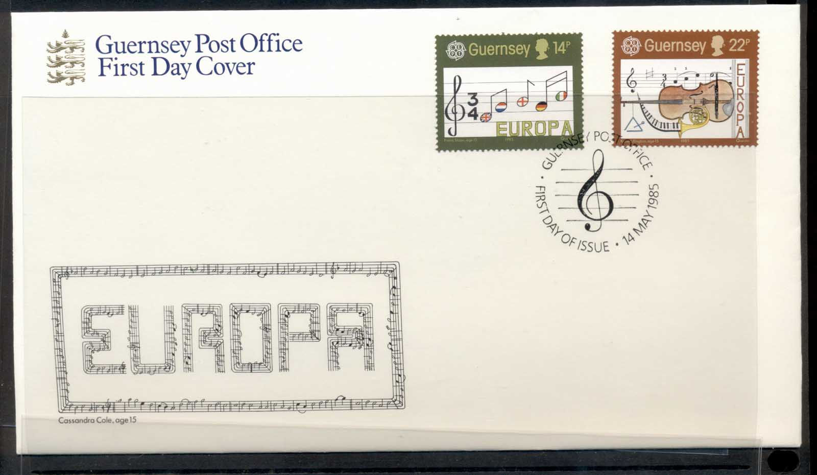 Guernsey 1985 Europa Music Year FDC