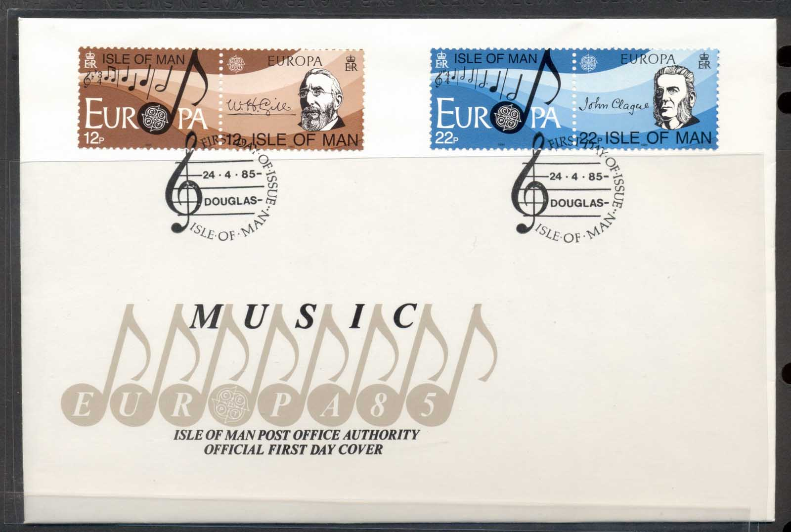 Isle of Man 1985 Europa Music Year FDC