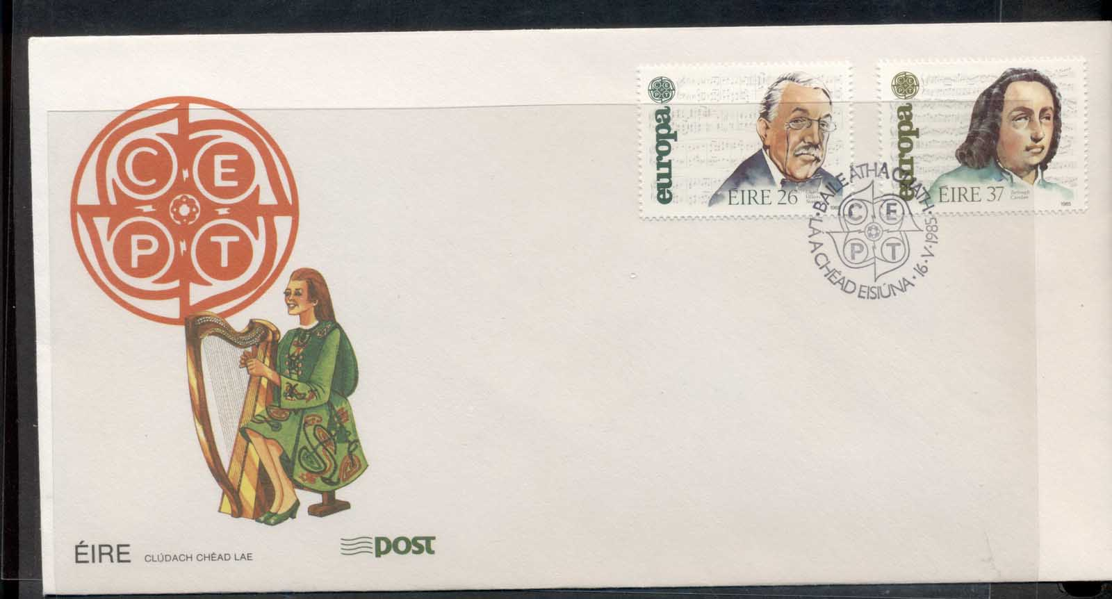 Ireland 1985 Europa Music Year FDC