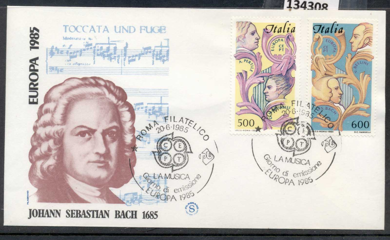 Italy 1985 Europa Music Year FDC