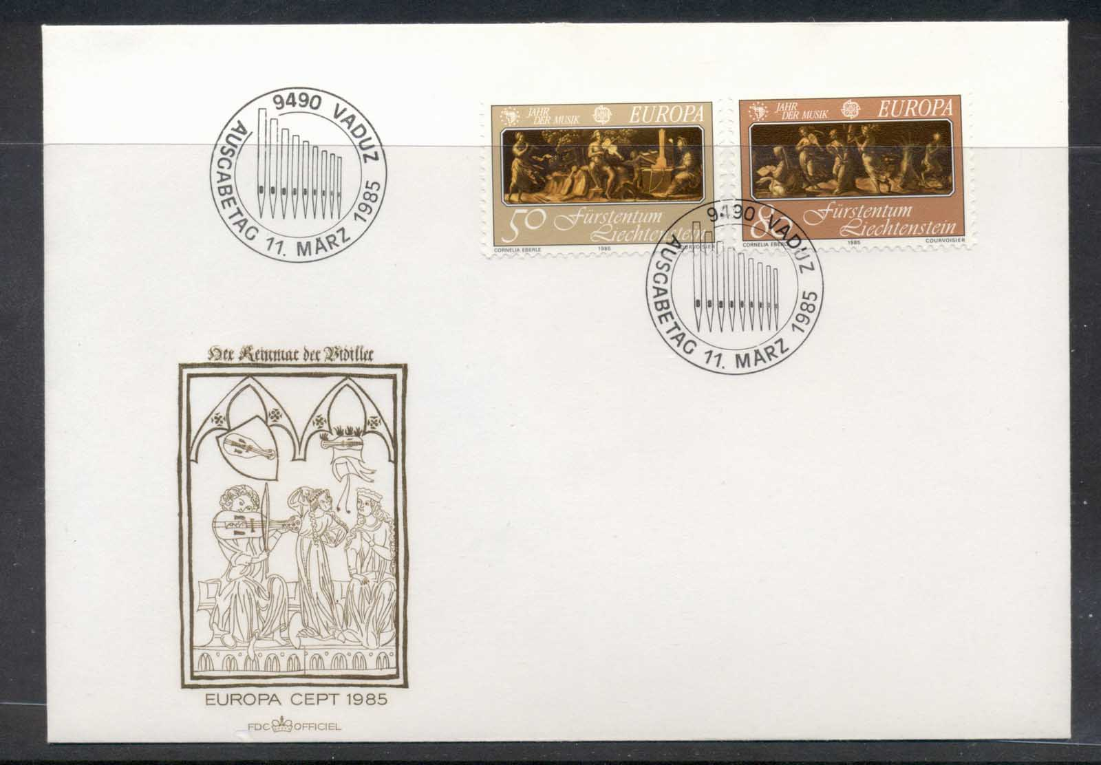 Liechtenstein 1985 Europa Music Year FDC