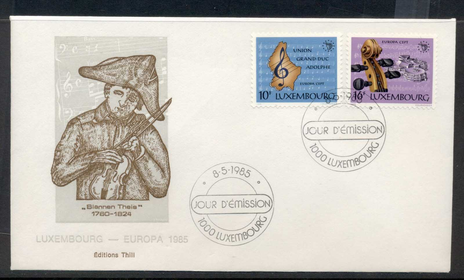 Luxembourg 1985 Europa Music Year FDC