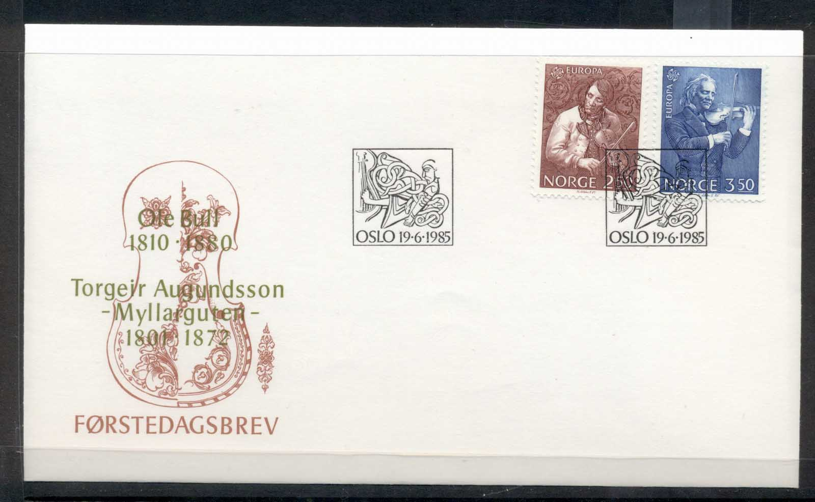Norway 1985 Europa Music Year FDC