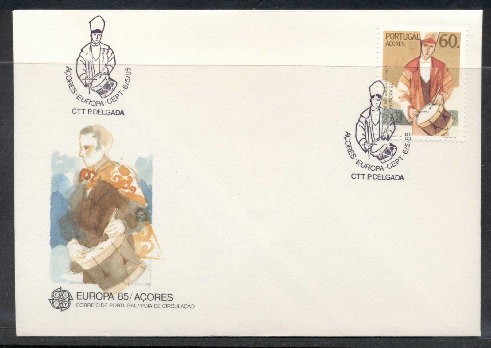 Azores 1985 Europa Music Year FDC