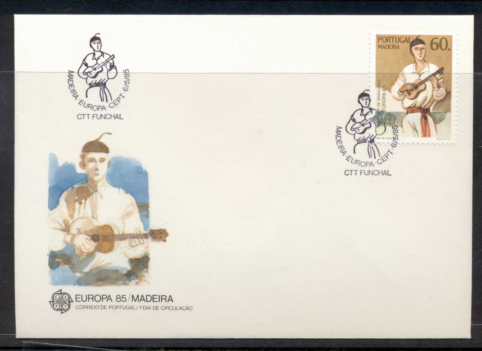 Madeira 1985 Europa Music Year FDC