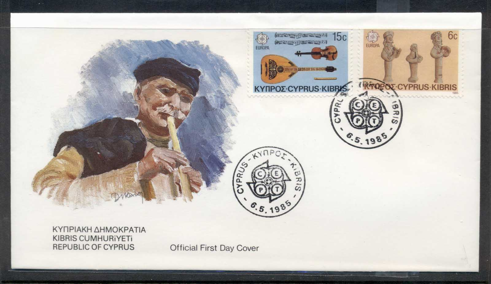 Cyprus 1985 Europa Music Year FDC