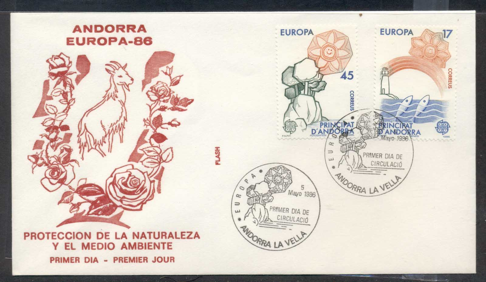 Andorra (Sp.) 1986 Europa Environment FDC