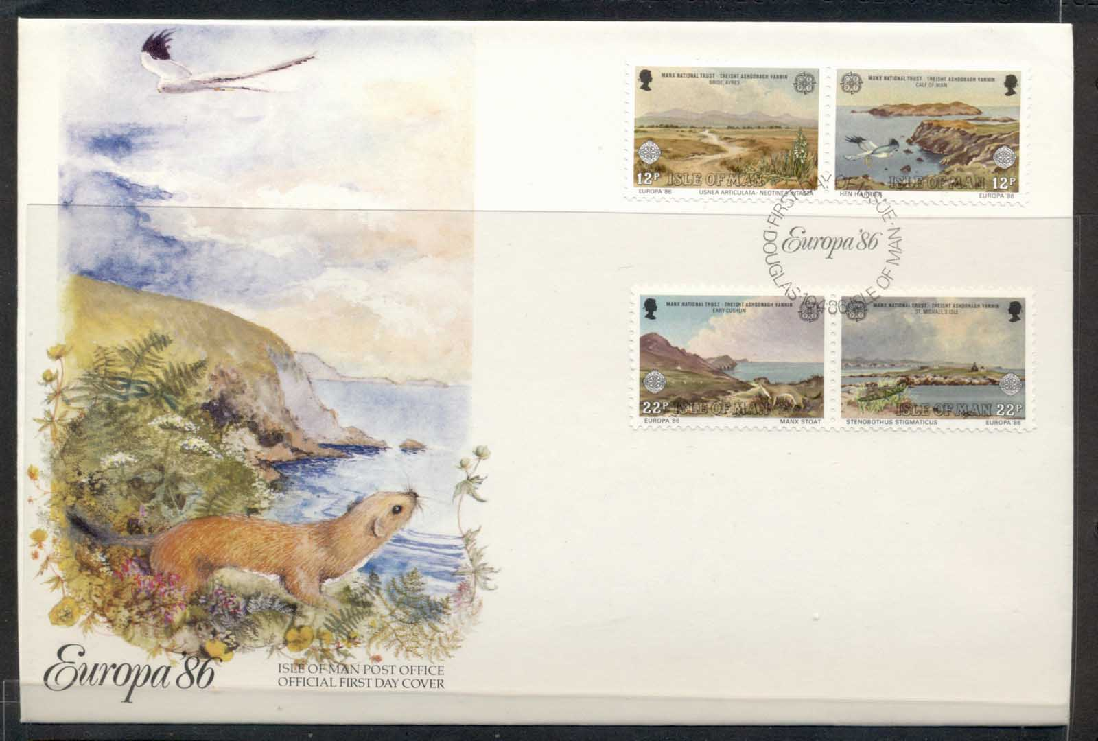 Isle of Man 1986 Europa Environment FDC