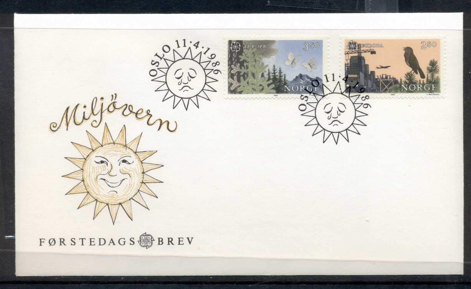 Norway 1986 Europa Environment FDC