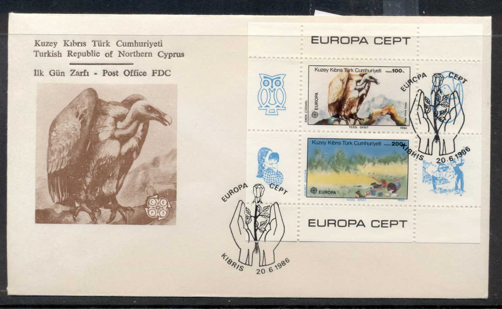 Cyprus Turkish 1986 Europa Environment MS FDC