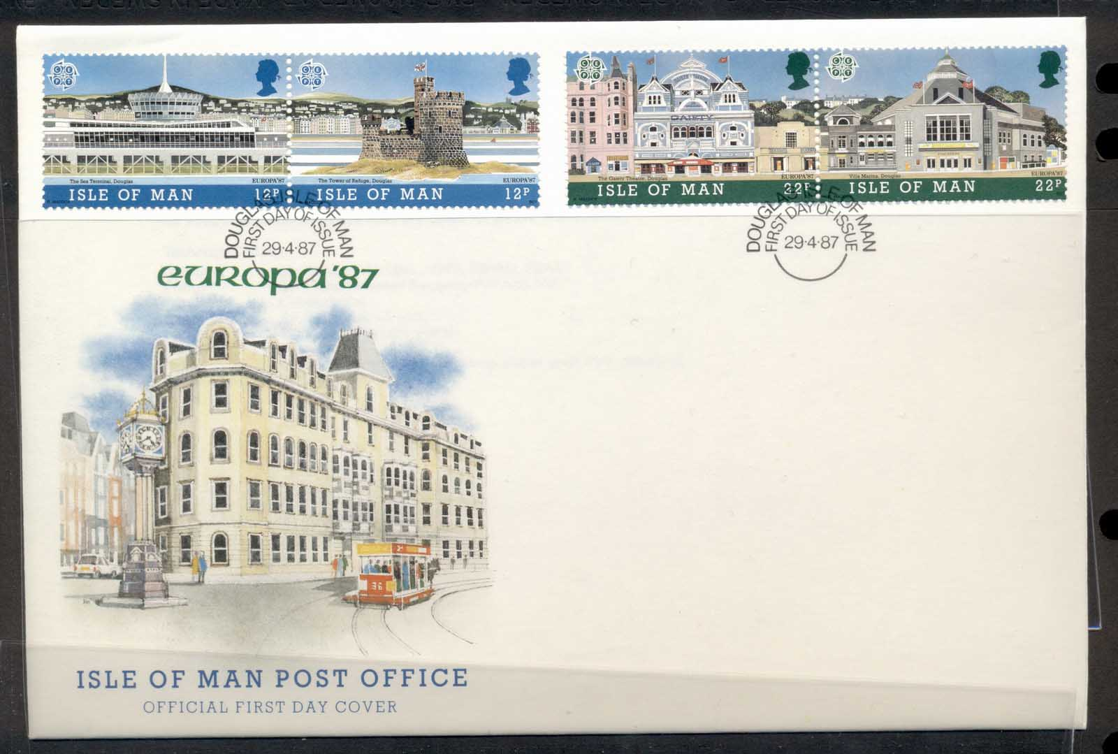 Isle of Man 1987 Europa Architecture FDC