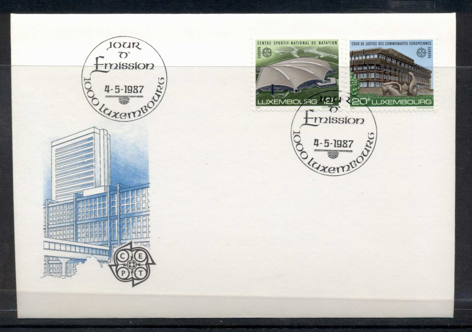 Luxembourg 1987 Europa Architecture FDC