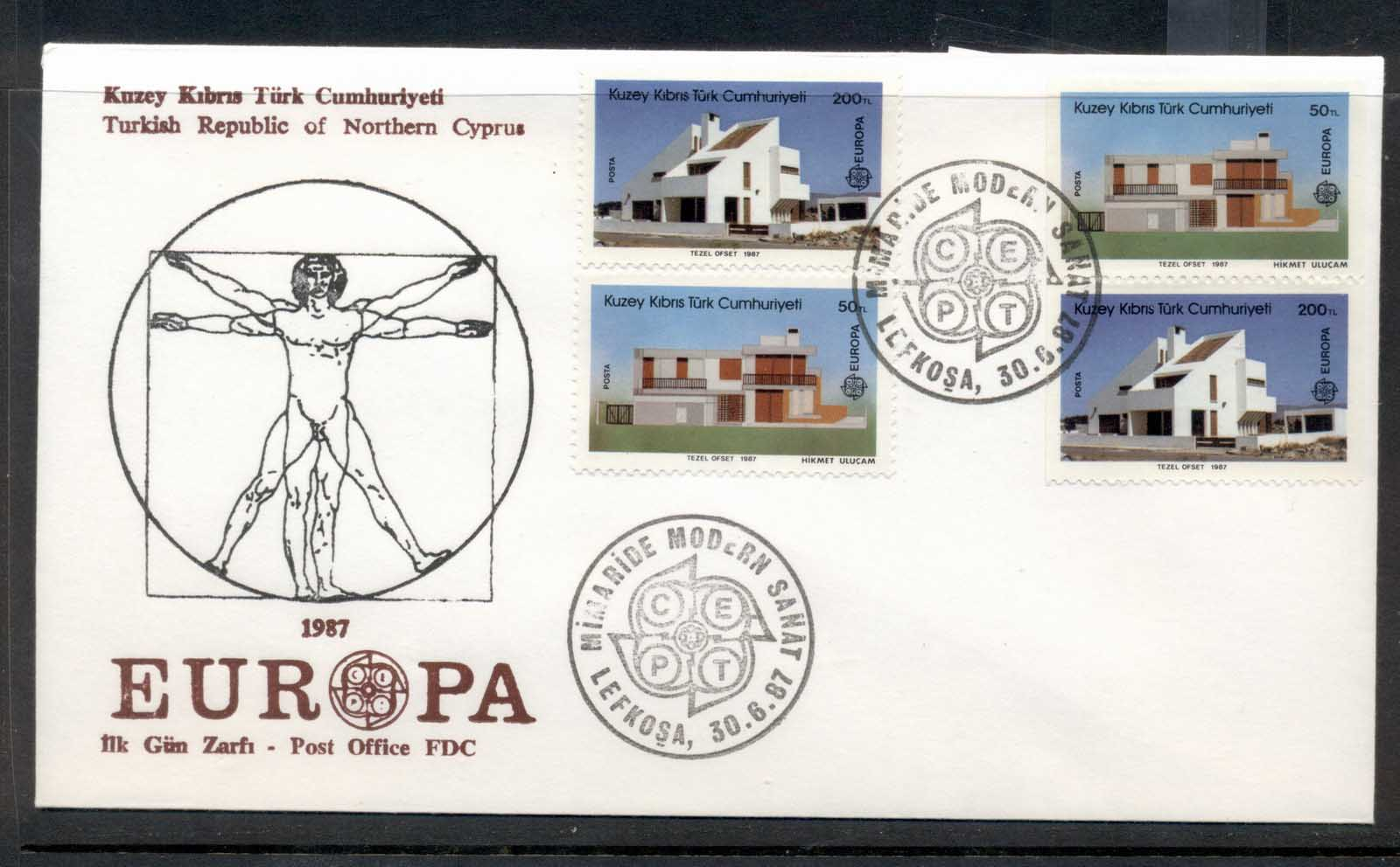 Cyprus Turkish 1987 Europa Architecture + booklet FDC