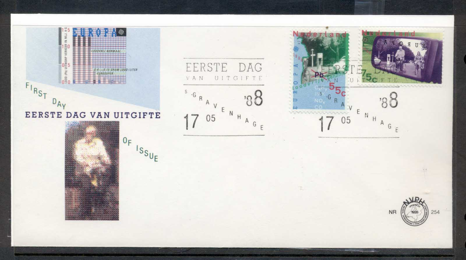 Nederland 1988 Europa Transport & Communication FDC