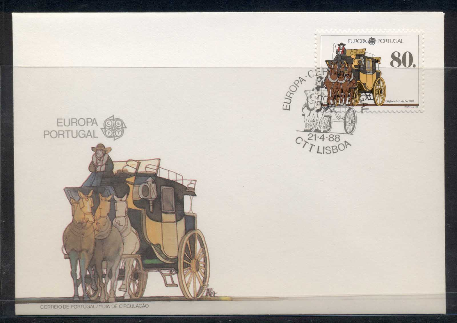 Portugal 1988 Europa Transport & Communication FDC