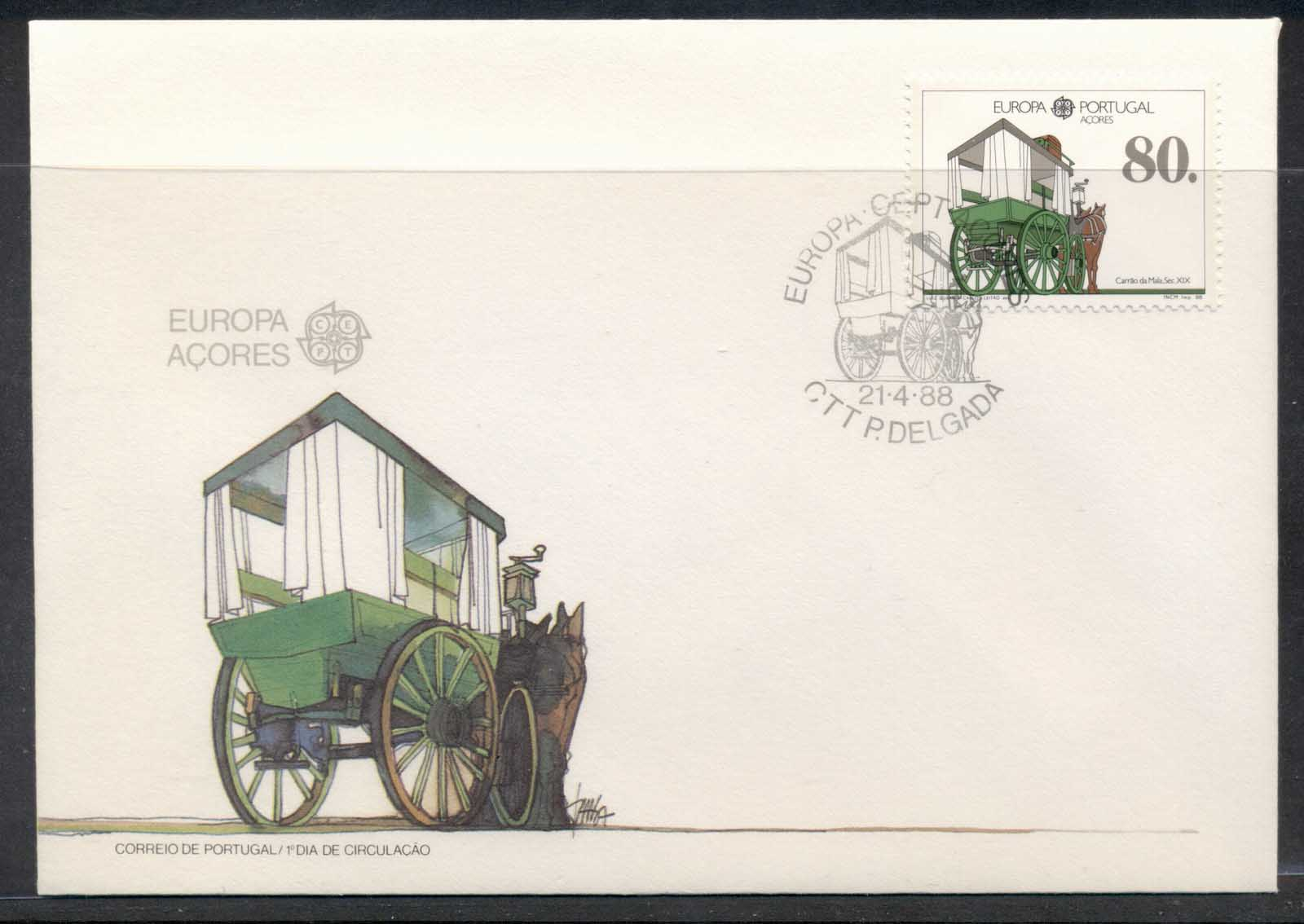 Azores 1988 Europa Transport & Communication FDC