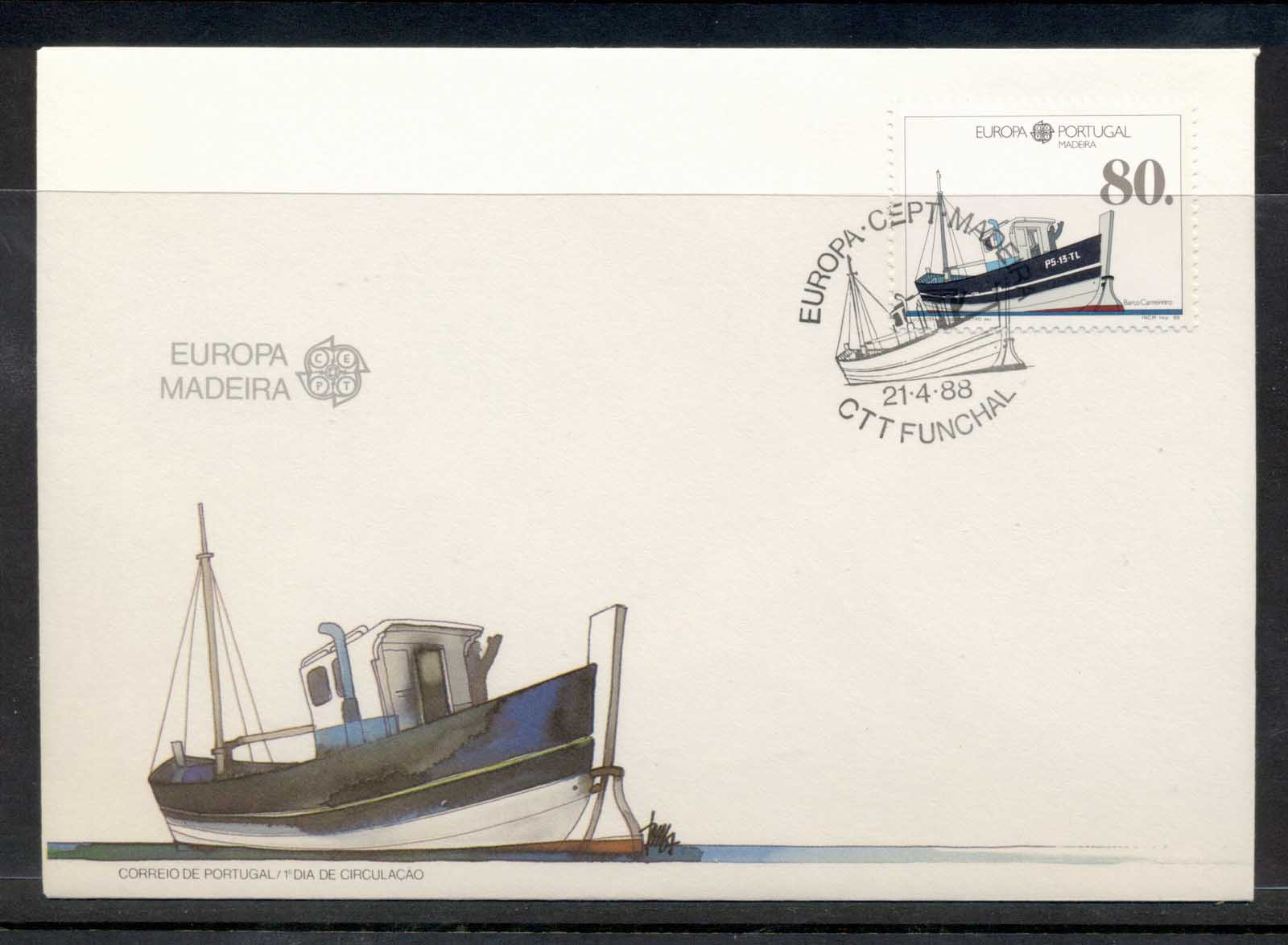 Madeira 1988 Europa Transport & Communication FDC