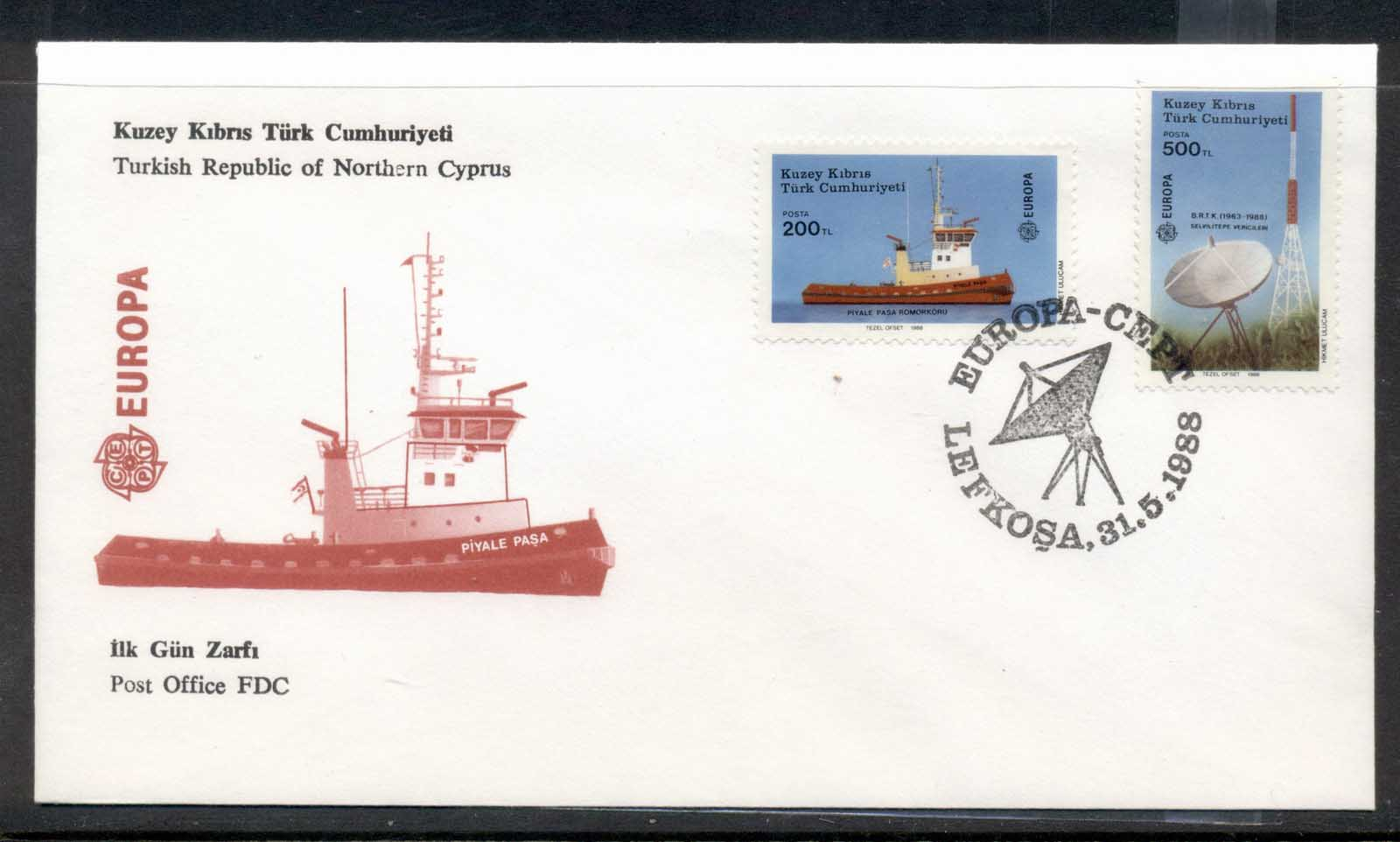 Cyprus Turkish 1988 Europa Transport & Communication FDC