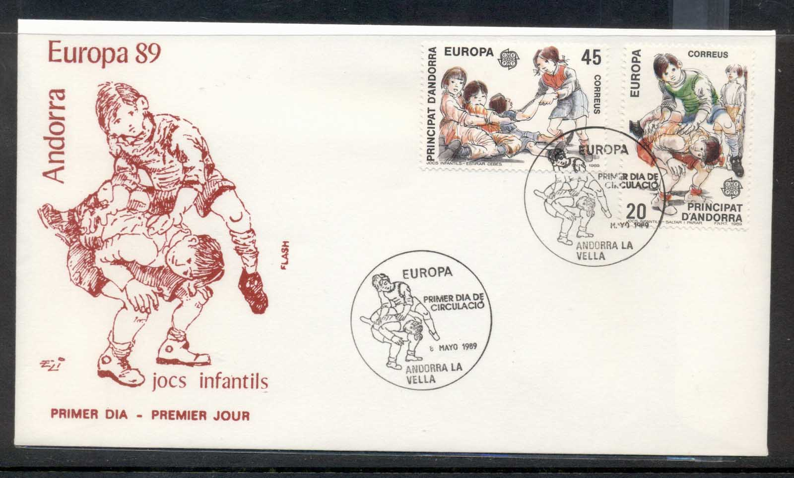 Andorra (Sp.) 1989 Europa Children's Play FDC