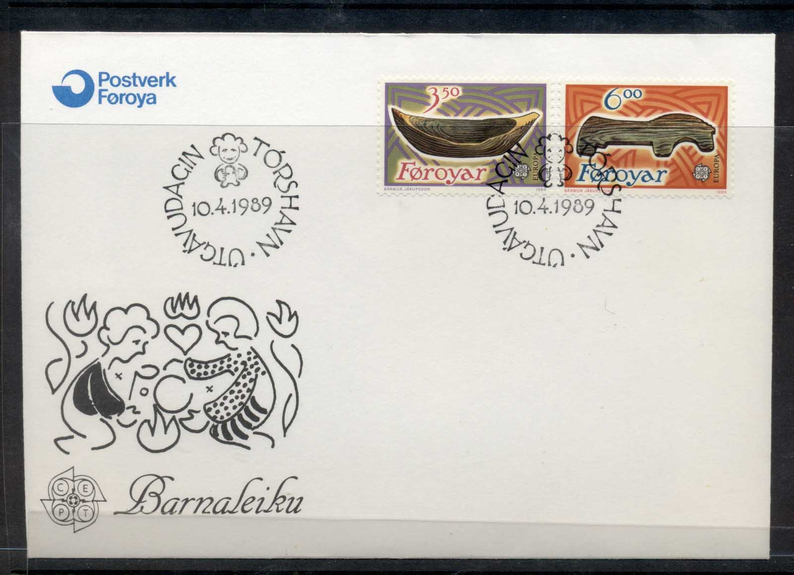 Faroe Is 1989 Europa Children's Play FDC