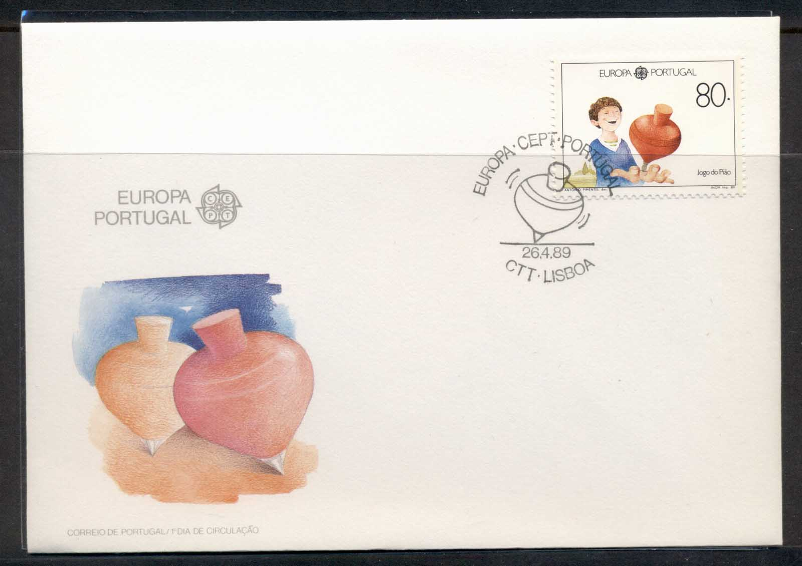 Portugal 1989 Europa Children's Play FDC