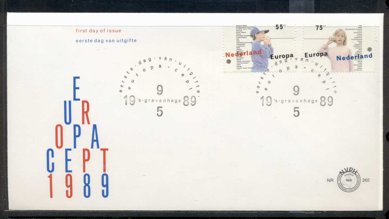 Nederland 1989 Europa Children's Play FDC