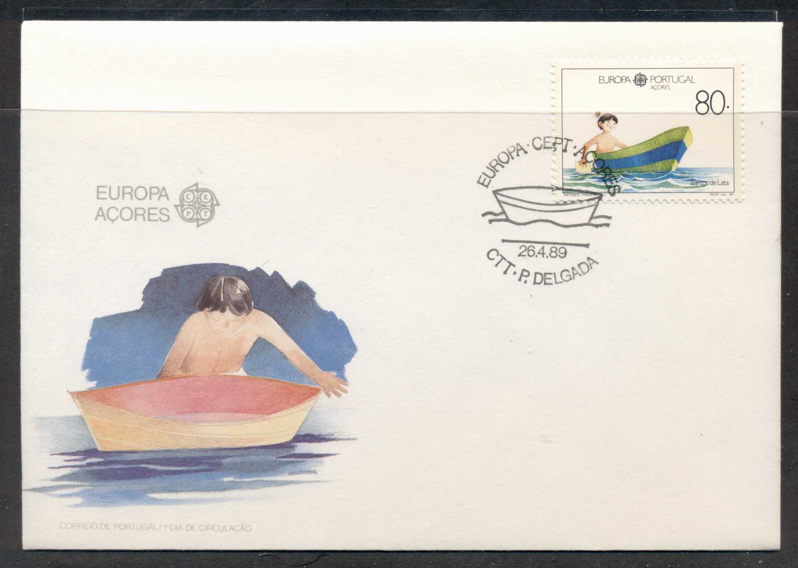 Azores 1989 Europa Children's Play FDC