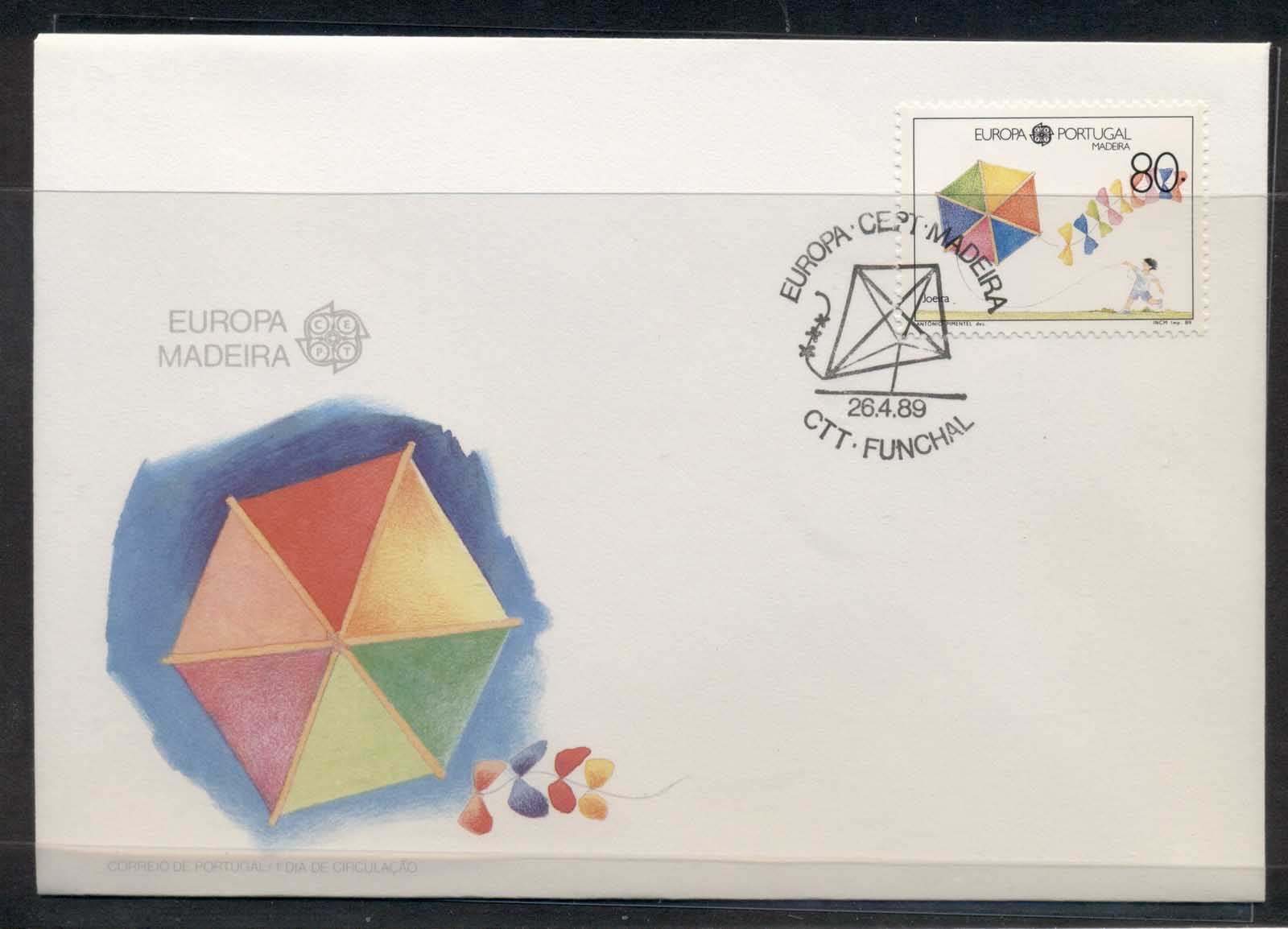 Madeira 1989 Europa Children's Play FDC