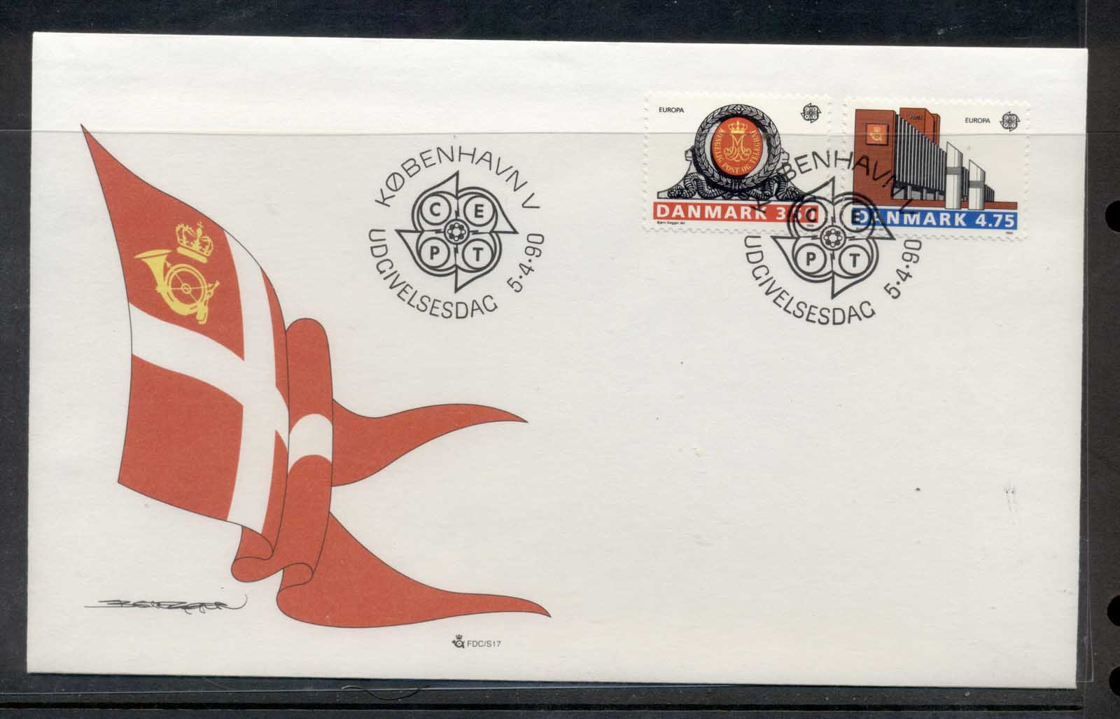 Denmark 1990 Europa Post Offices FDC