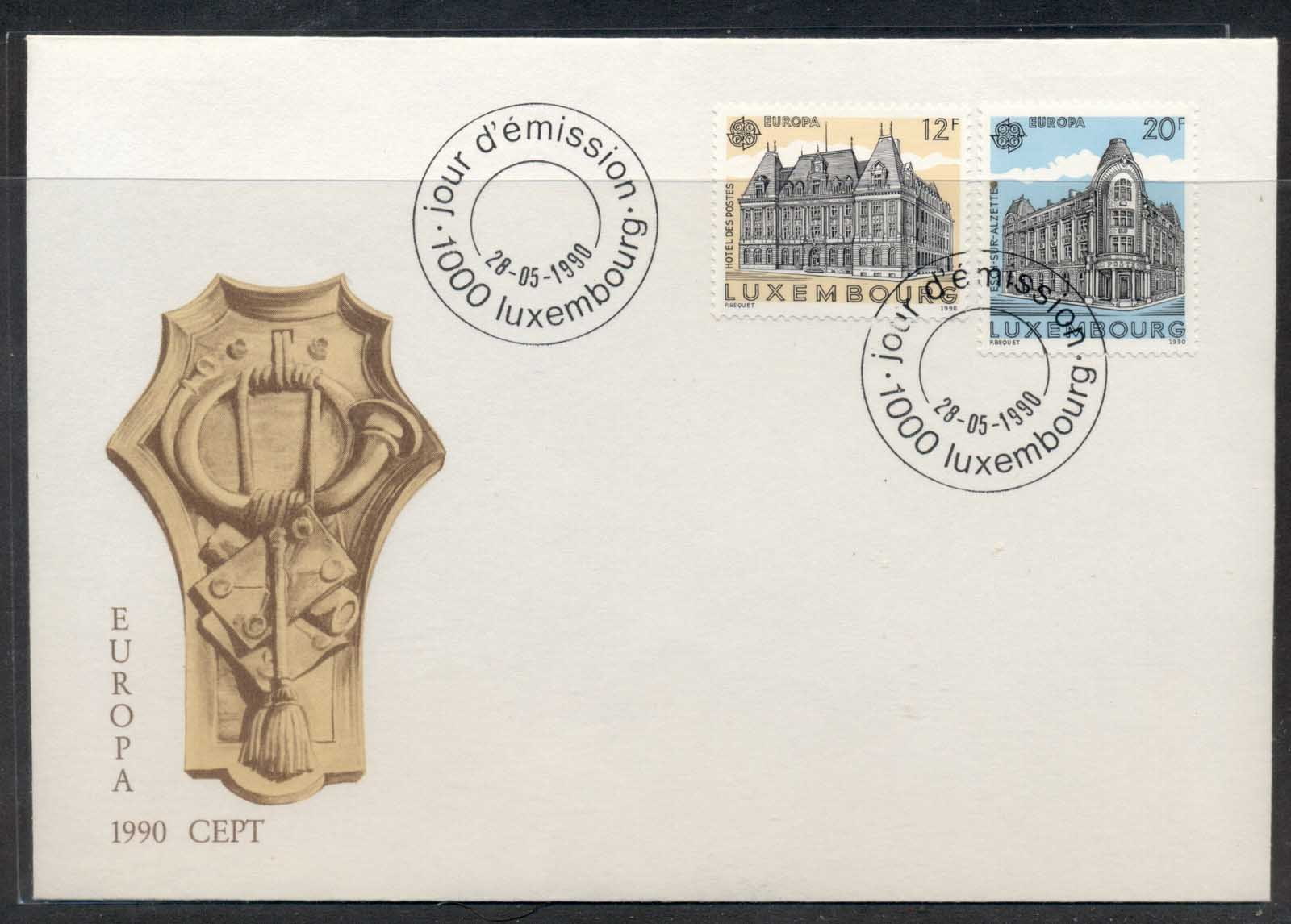Luxembourg 1990 Europa Post Offices FDC