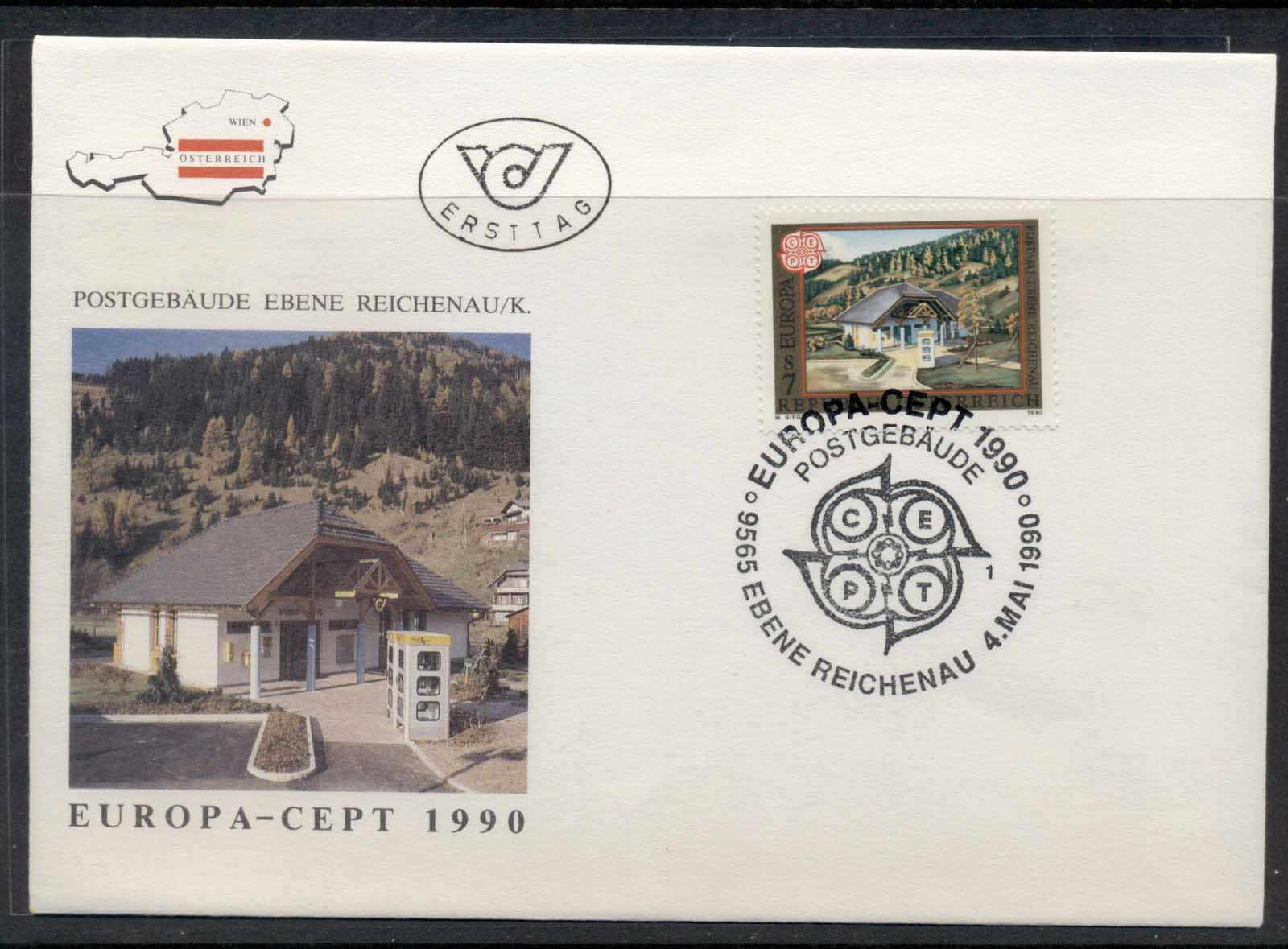 Austria 1990 Europa Post Offices FDC