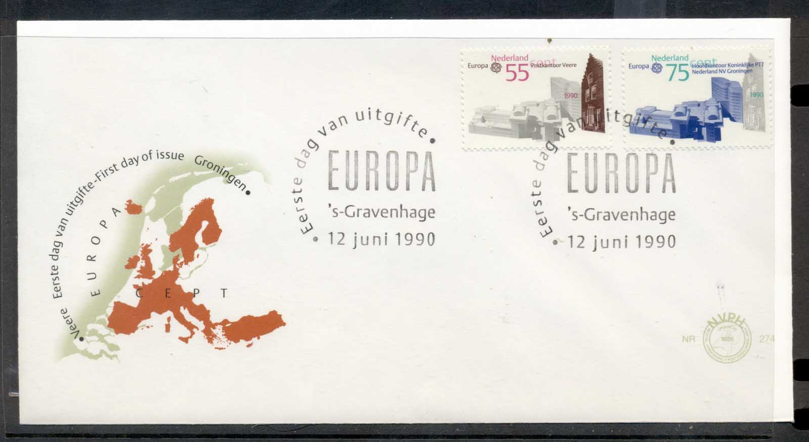 Nederland 1990 Europa Post Offices FDC