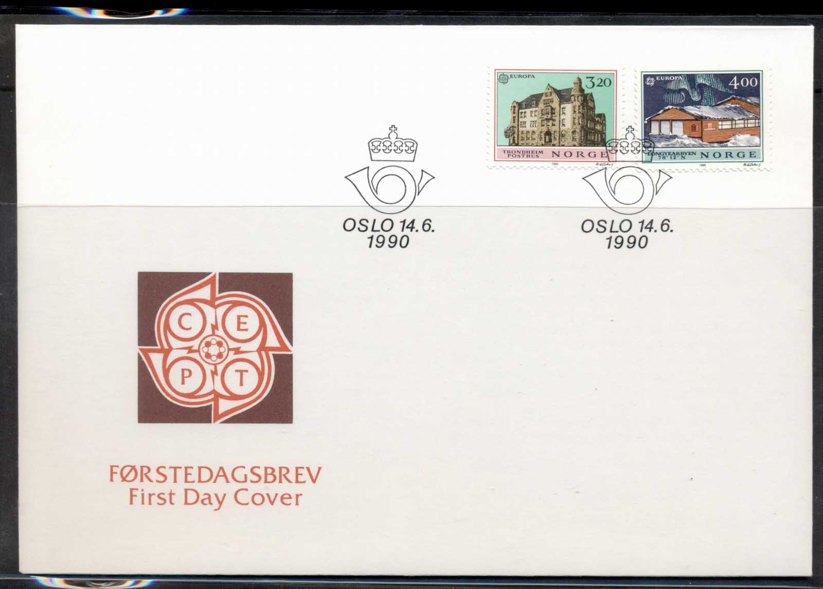 Norway 1990 Europa Post Offices FDC