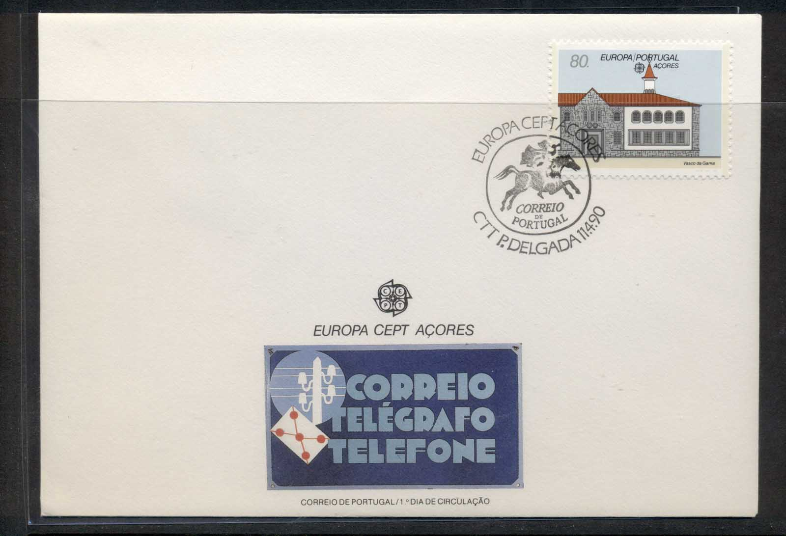 Azores 1990 Europa Post Offices FDC