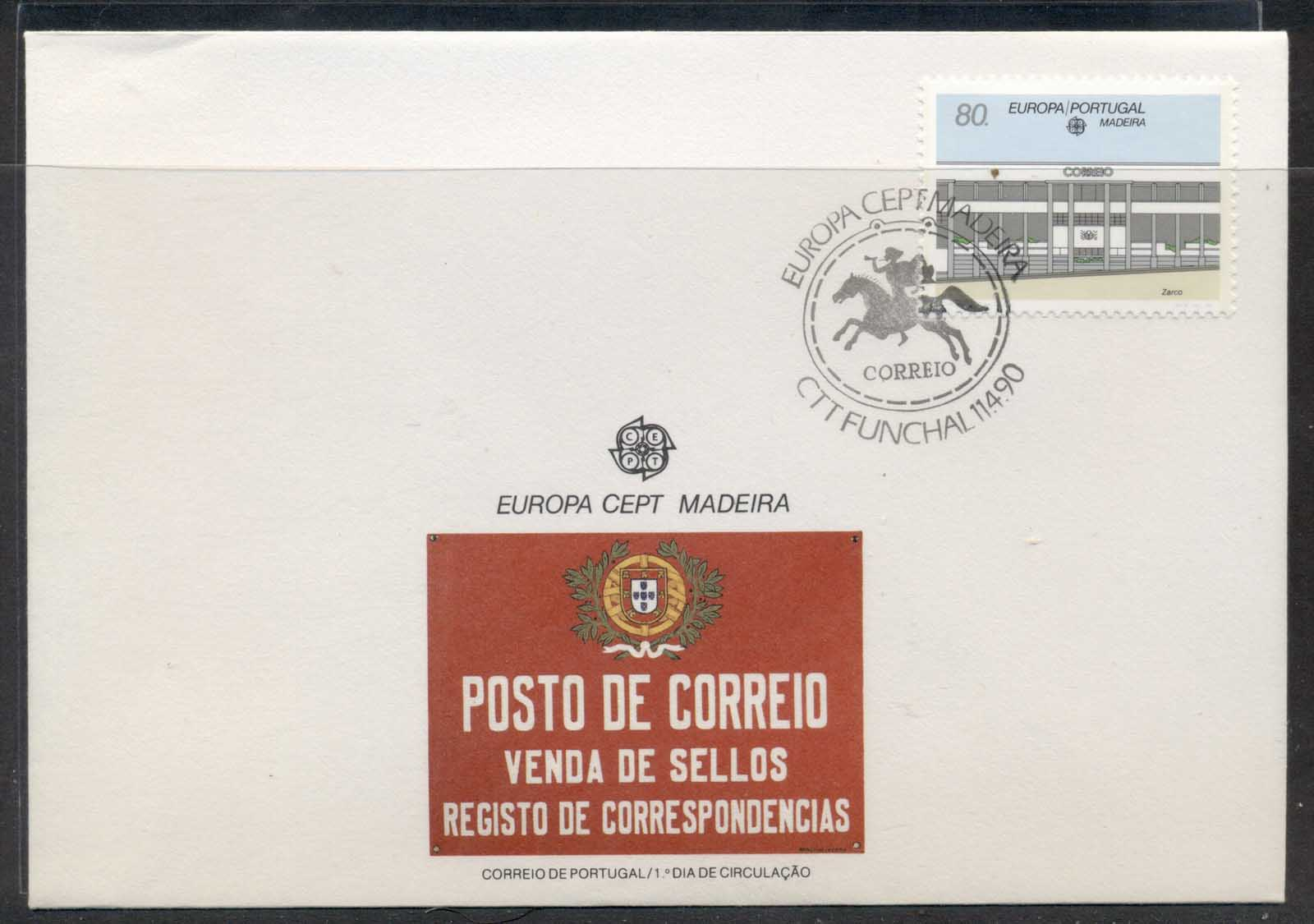 Madeira 1990 Europa Post Offices FDC