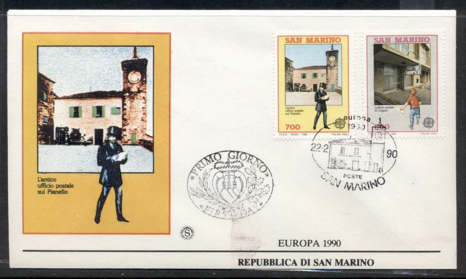 San Marino 1990 Europa Post Offices FDC