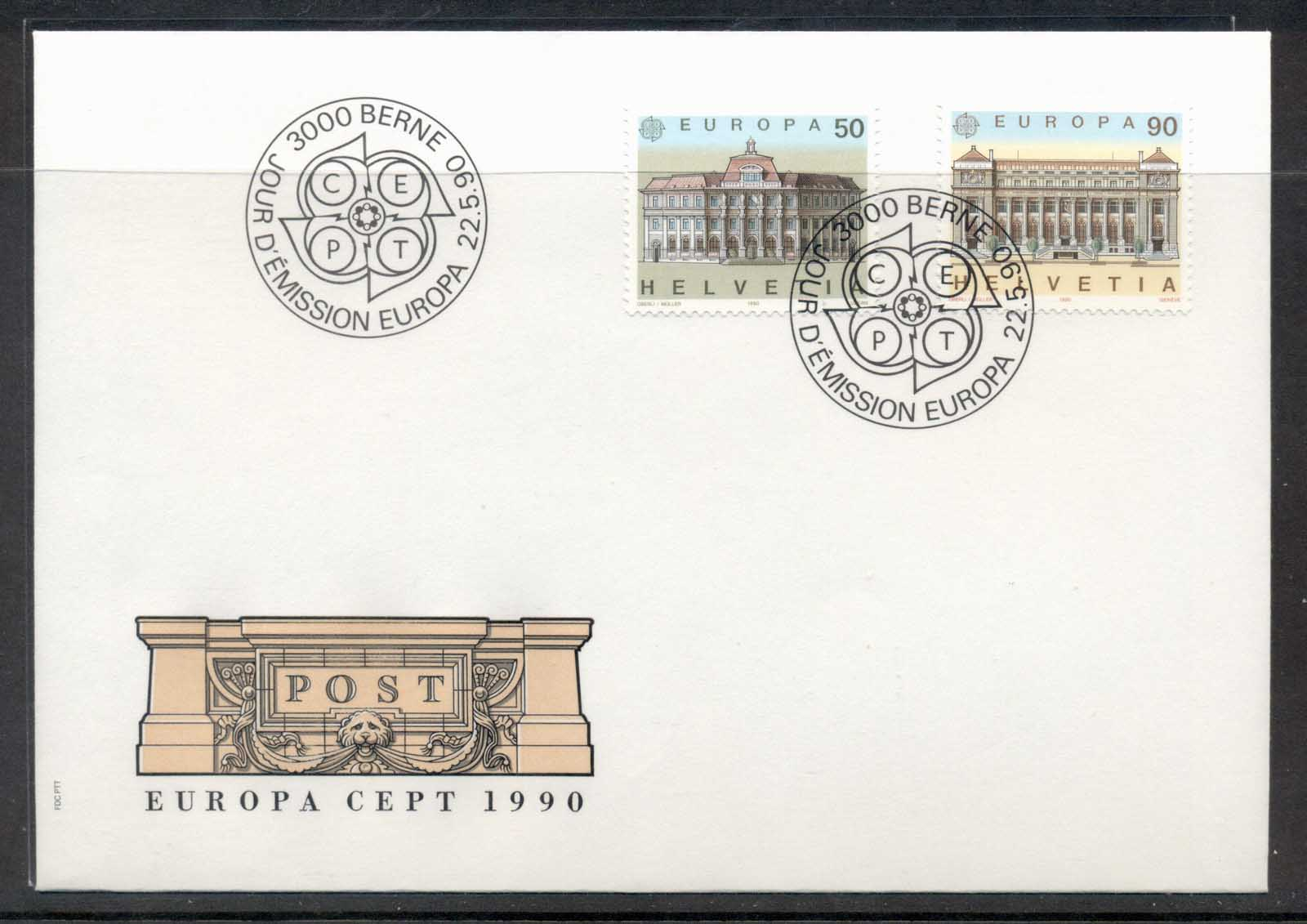 Switzerland 1990 Europa Post Offices FDC