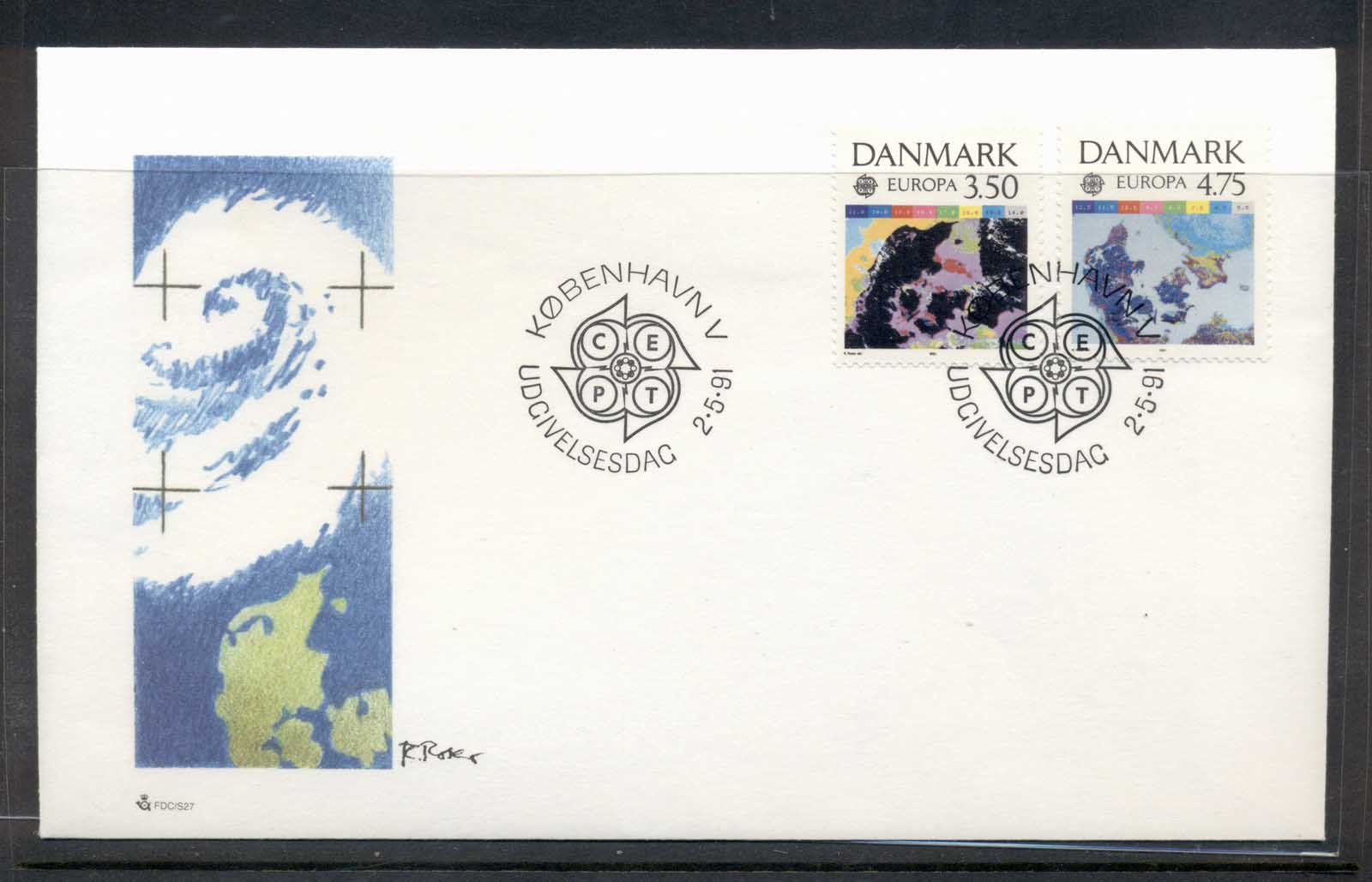 Denmark 1991 Europa Man in Space FDC
