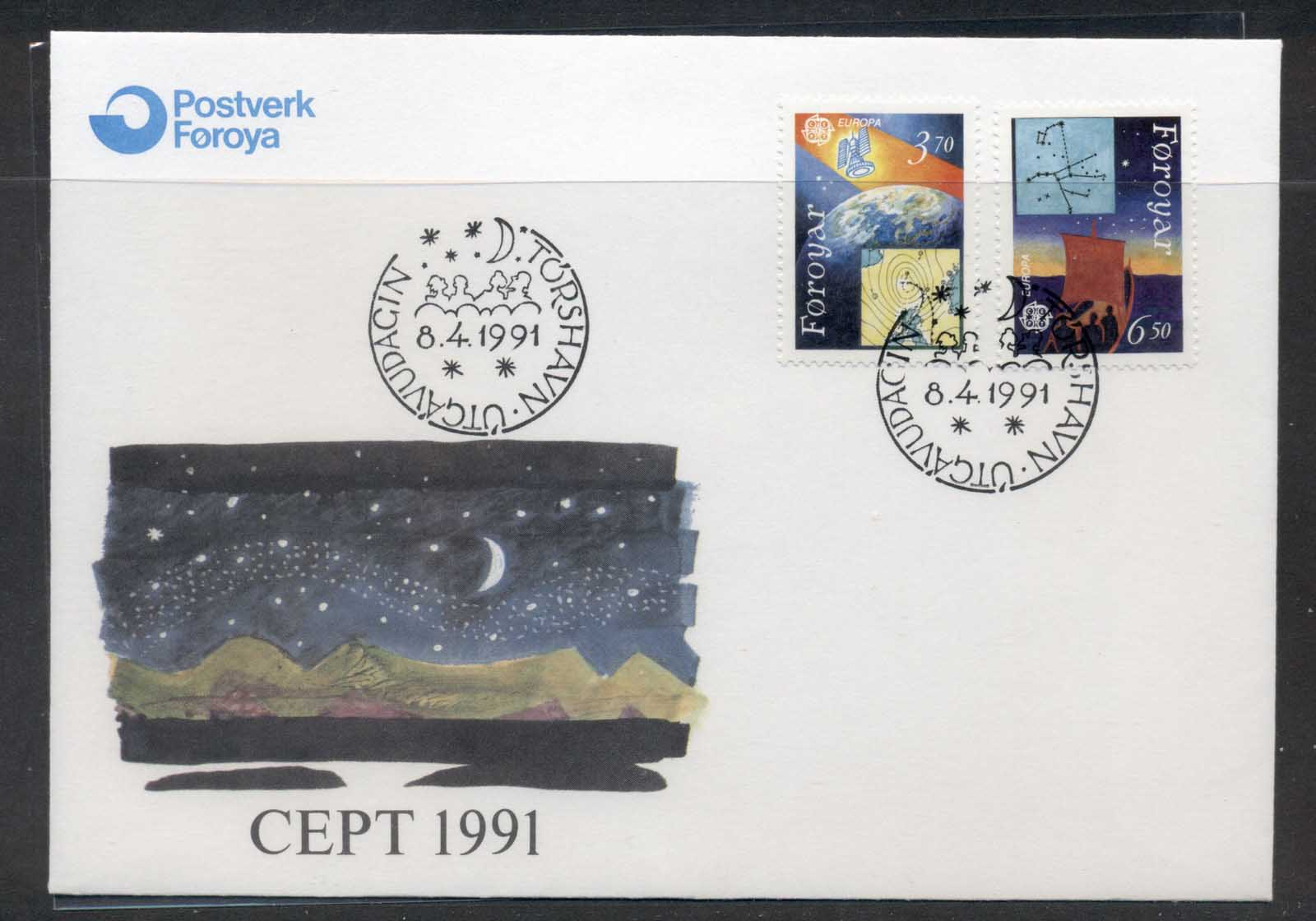 Faroe Is 1991 Europa Man in Space FDC