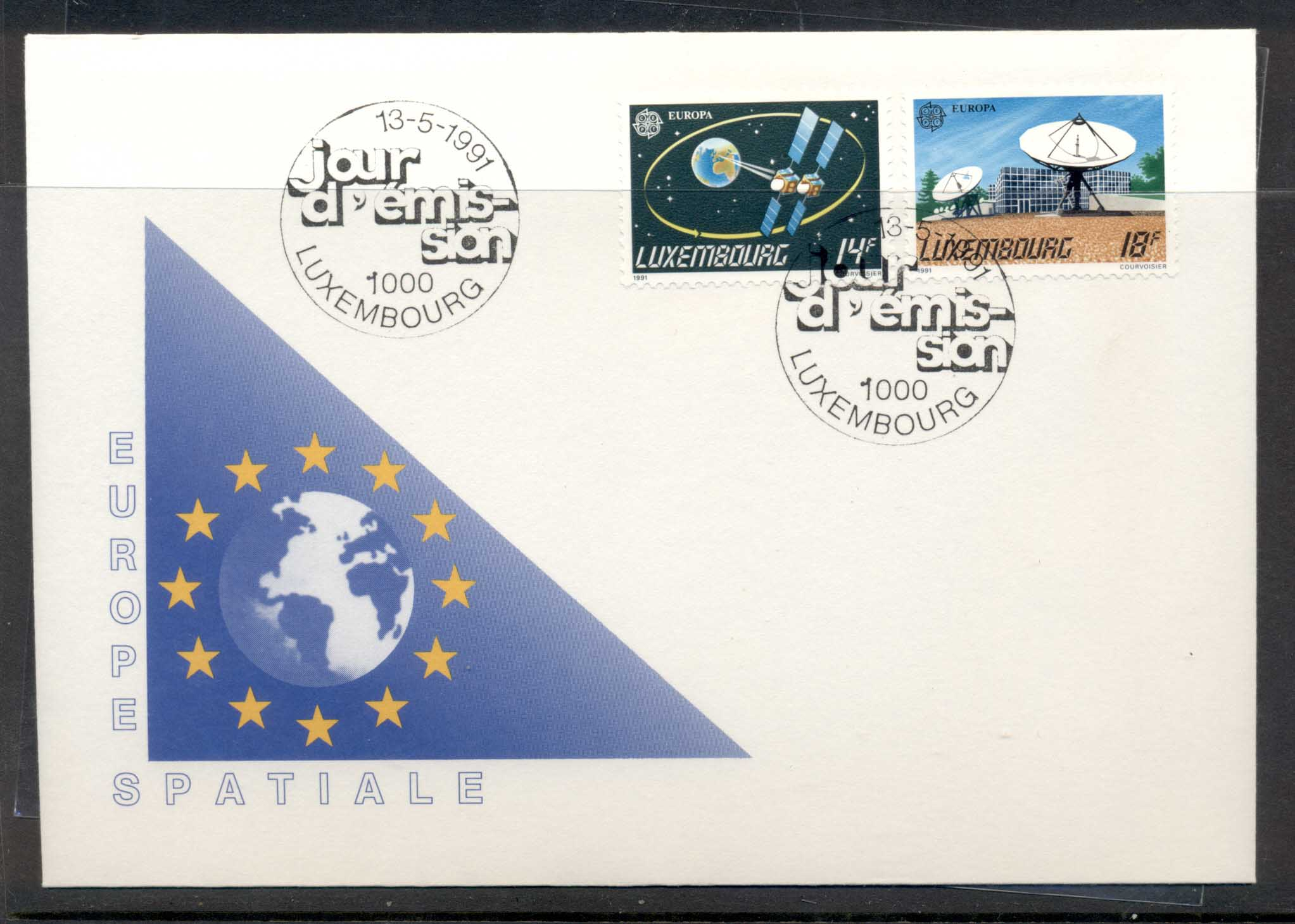 Luxembourg 1991 Europa Man in Space FDC