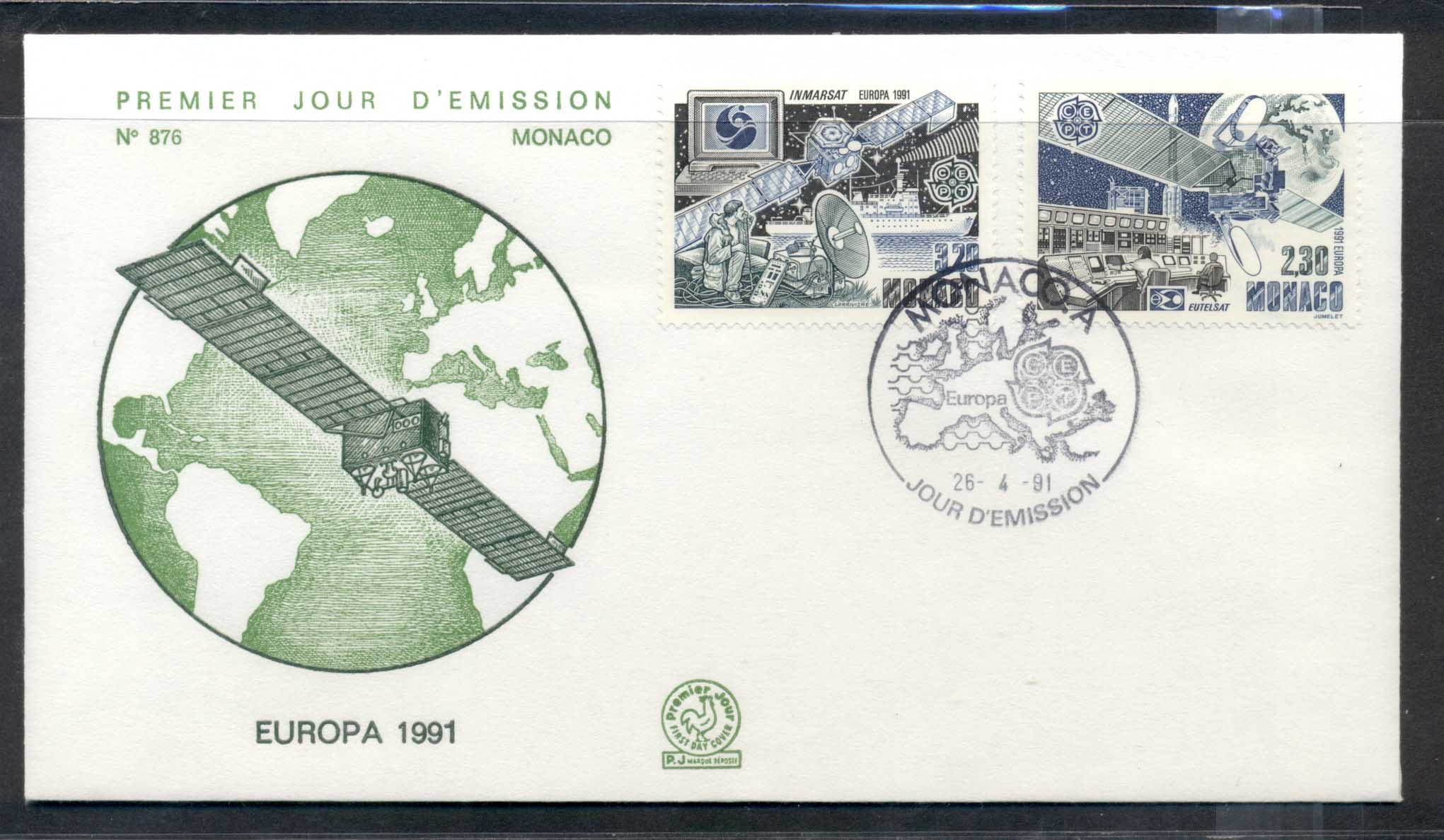 Monaco 1991 Europa Man in Space FDC